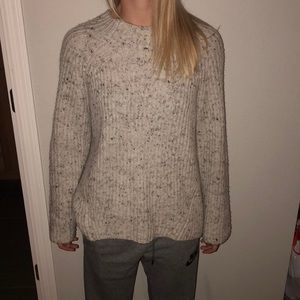 Grey speckled madewell sweater